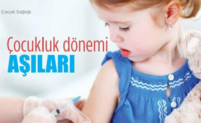 Çocuk ve bebek aşıları