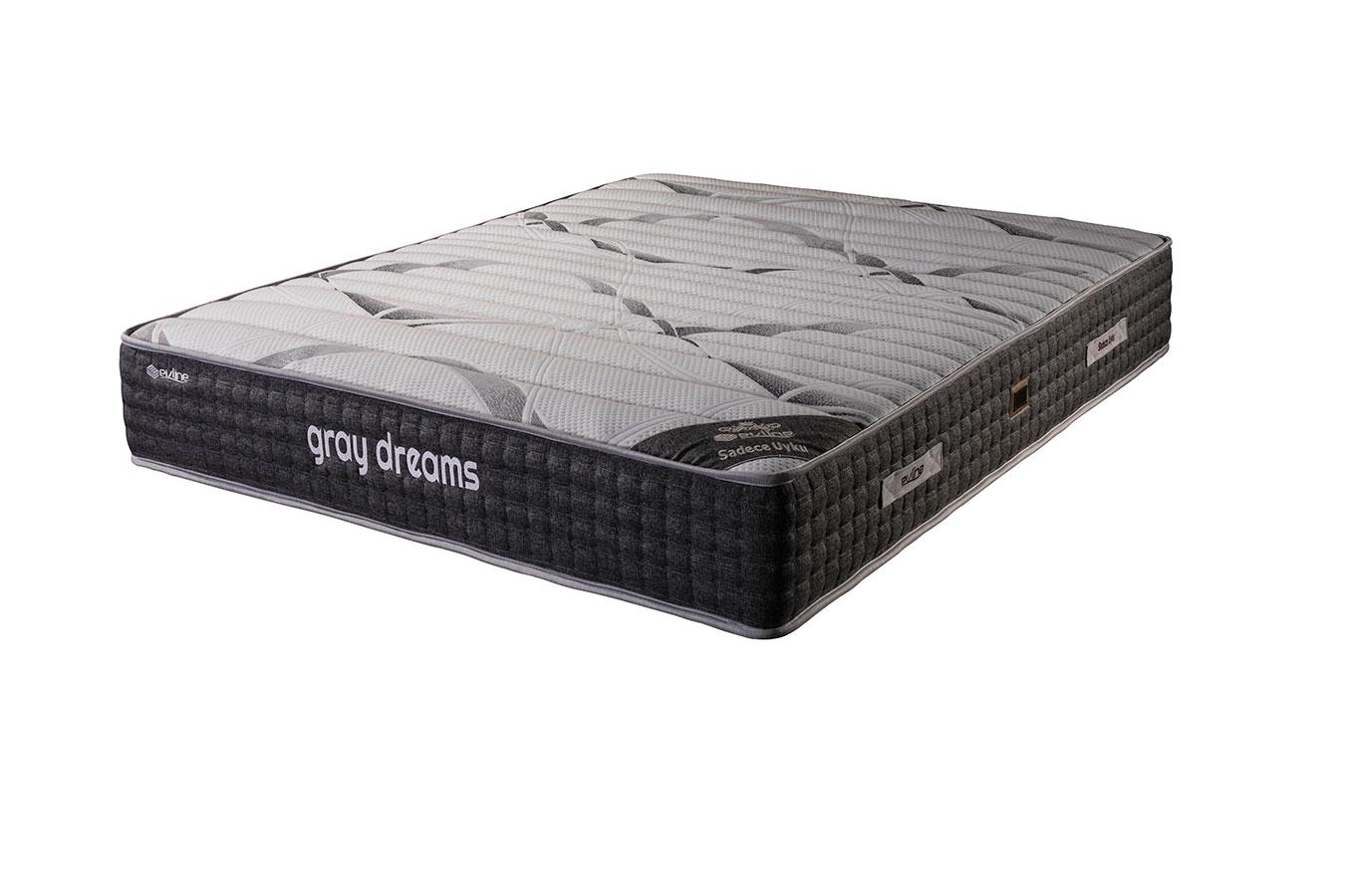 Gray 180x200 cm özel ölçü yatak modelleri